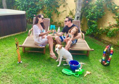Família na Pousada Moa Guarujá
